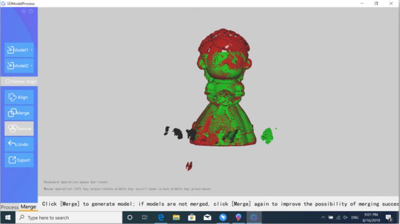 3d scanner green model
